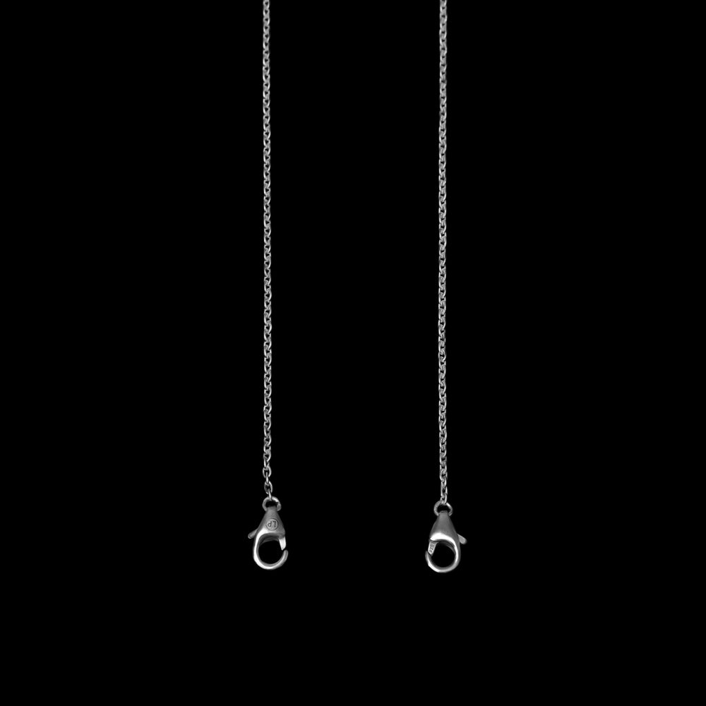 Fine O Mask Chain - Sterling Silver