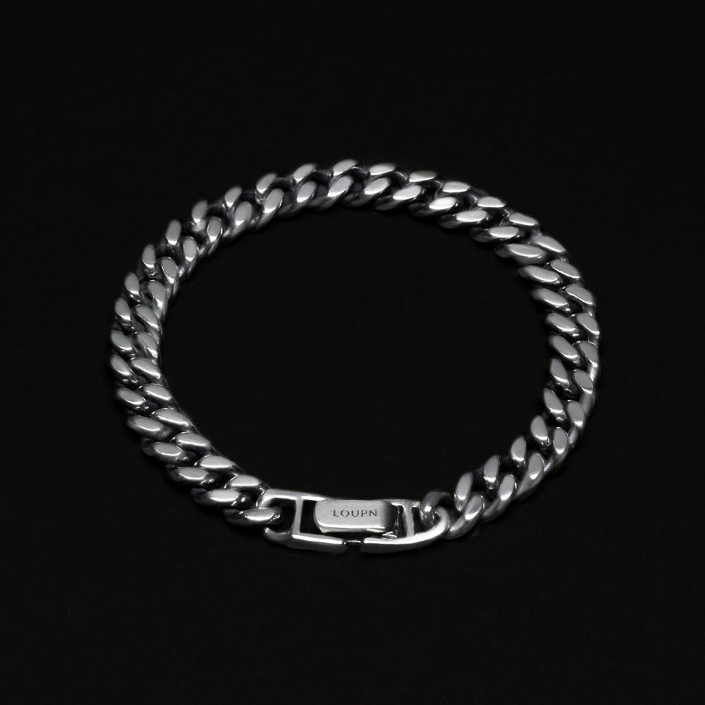 Cuban Chain Bracelet - Sterling Silver 7 mm