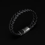 Leather Woven Bracelet - 10 mm