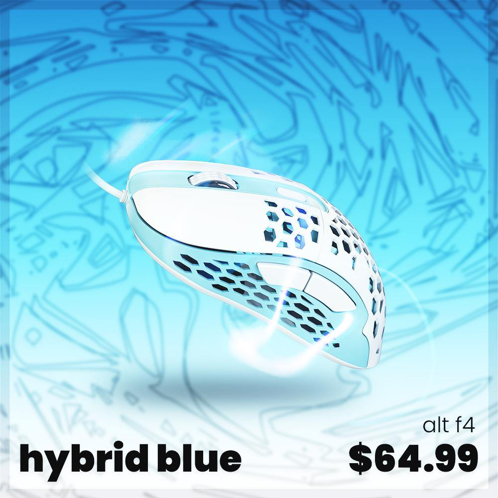 Blue F4 Ultralight Gaming Mouse