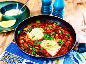 Spanish Cod, Chorizo & Cannellini Bean Stew