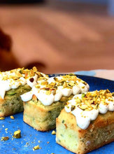 Load image into Gallery viewer, Courgette, Lime & Pistachio Cakes
