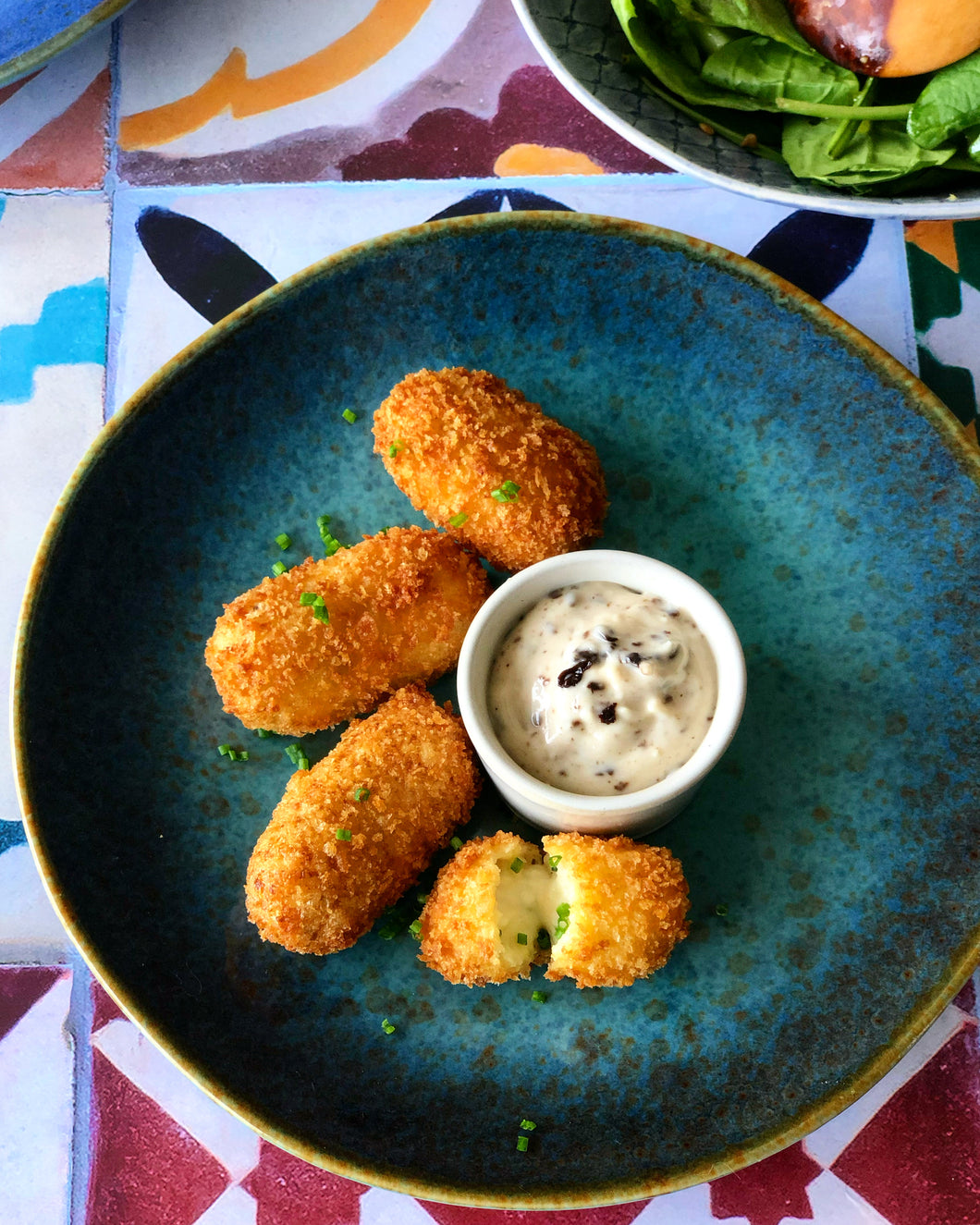 NEW Manchego & Chive Croquetas
