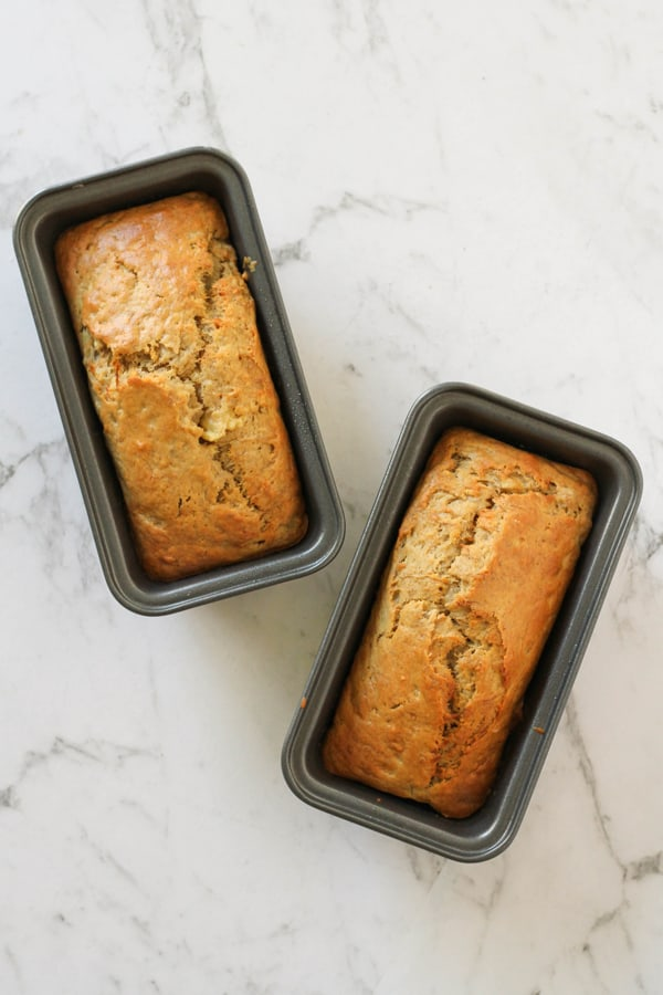 Mini Banana Loaves with Chocolate Caramel Chunks