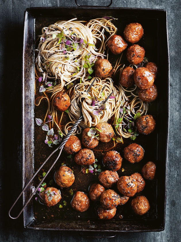 Sticky Soy & Ginger Pork Meatballs