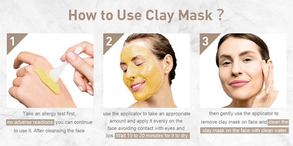 How to apply clay face mask