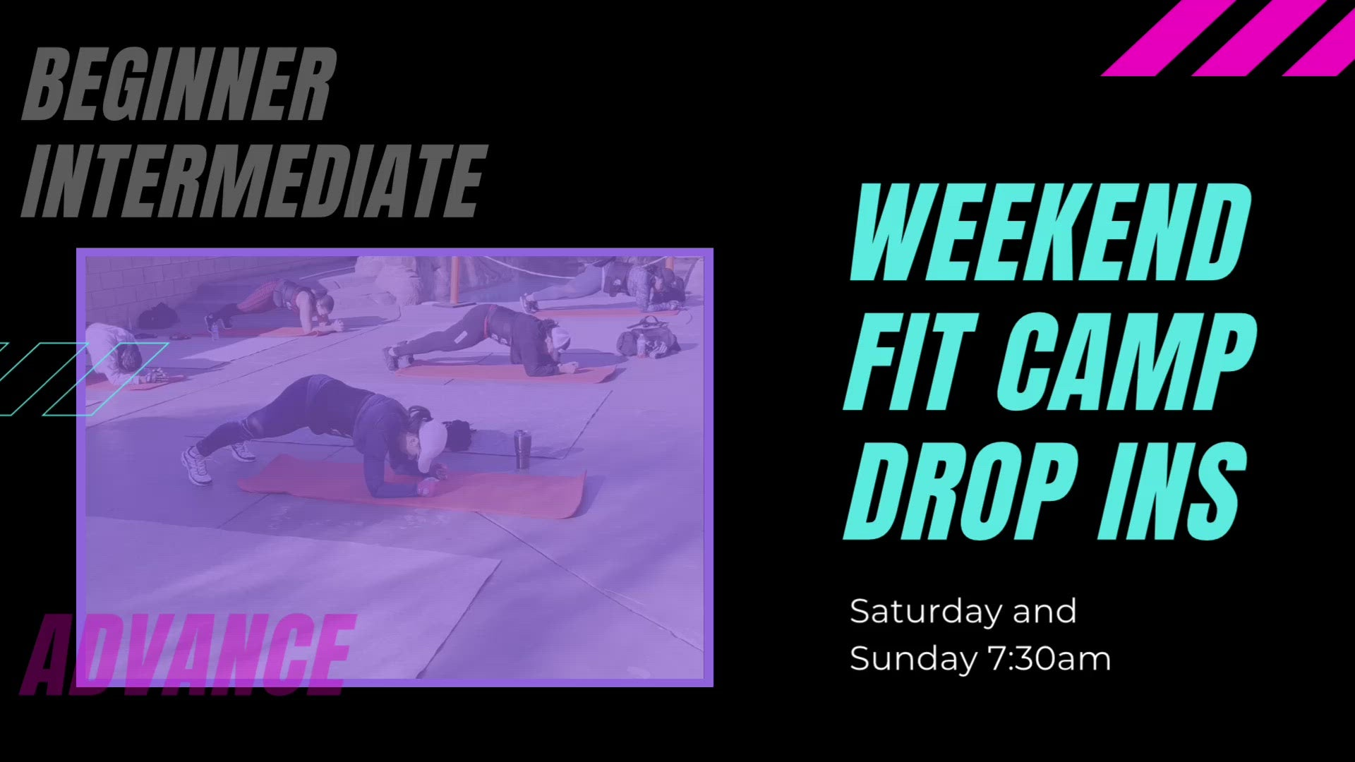 Weekend Fit Camp Drop Ins