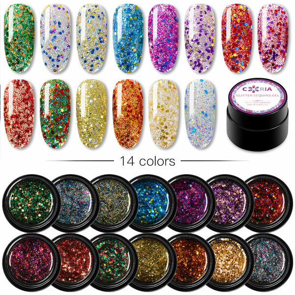 Gel Uv/Led Coria Glitter Sequins 5g 10 - Coria