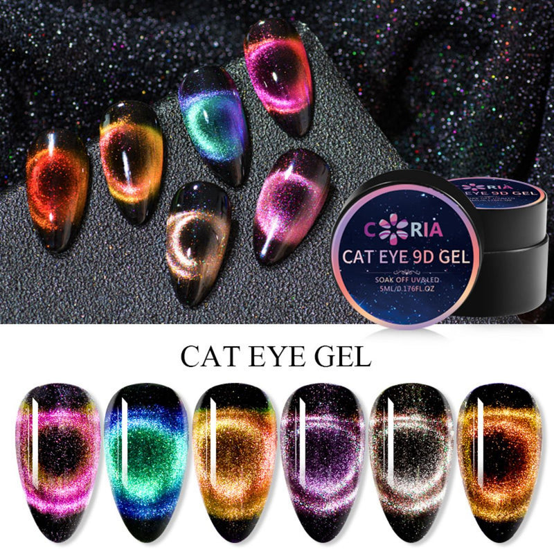 Gel Uv/Led Coria Cat Eye 9D 5g 04 - Coria