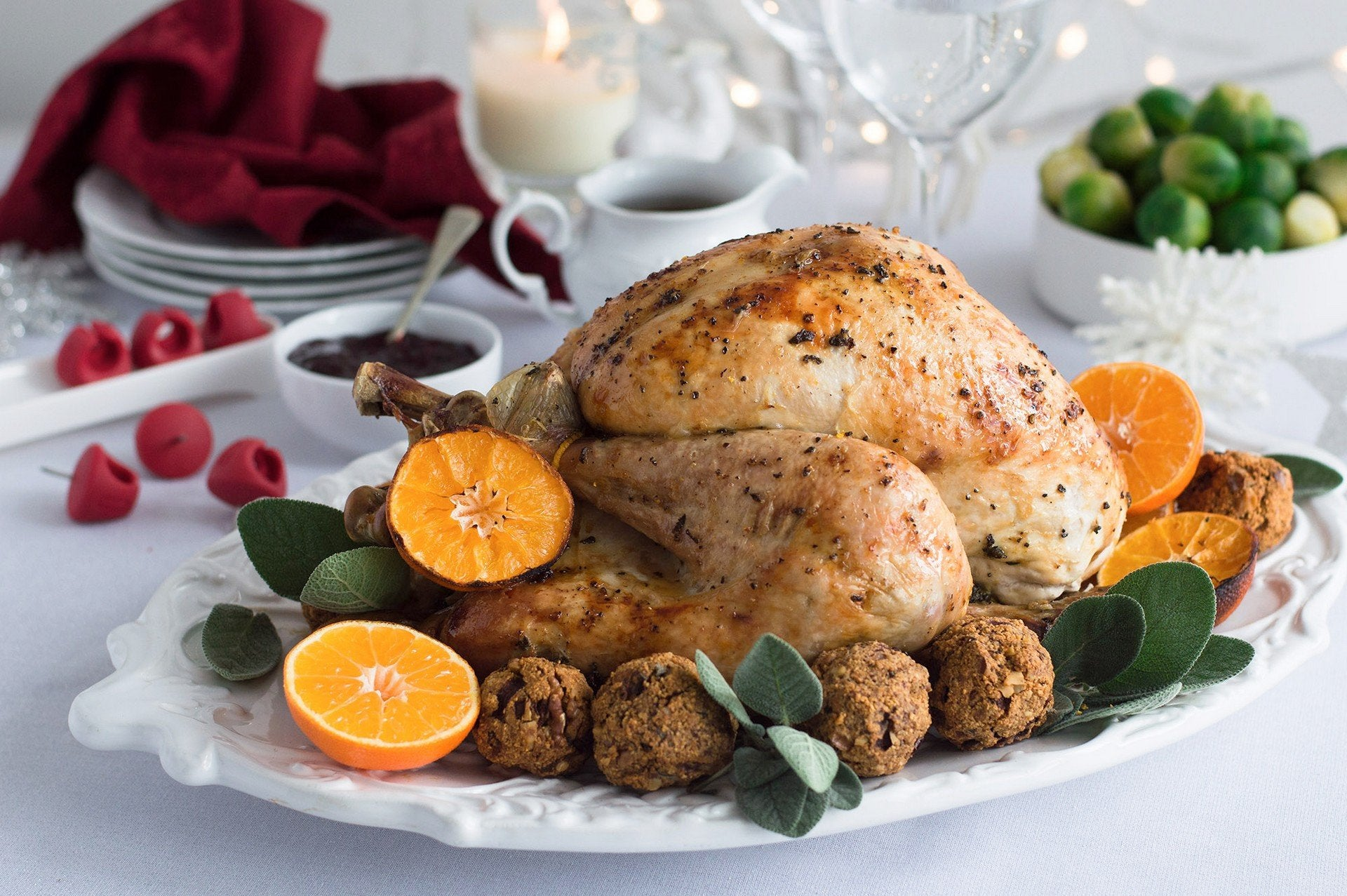 Sage & Clementines Roast Turkey with Sage & Onions Stuffing