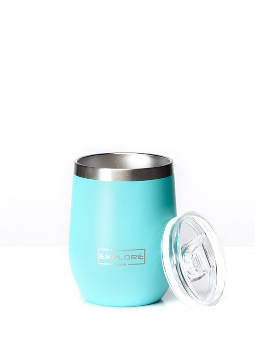 EXPLORE LIFE WINE TUMBLER - TEAL