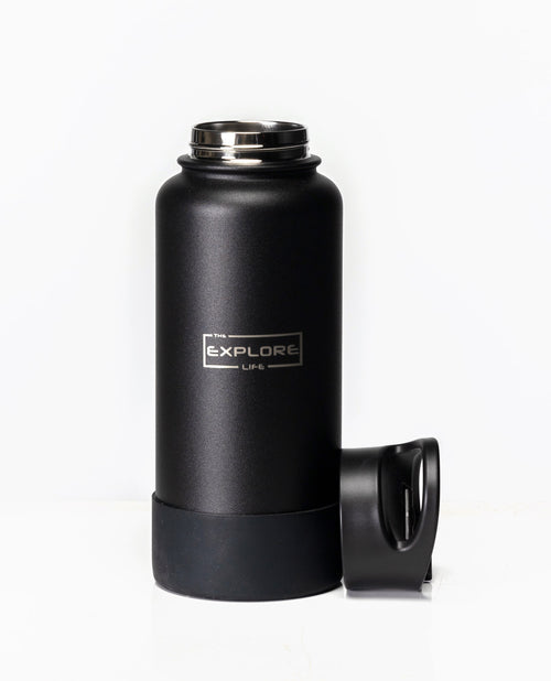EXPLORE LIFE DRINK BOTTLE - BLACK