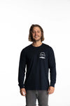 Shaka Long Sleeve Tee Mens - Navy