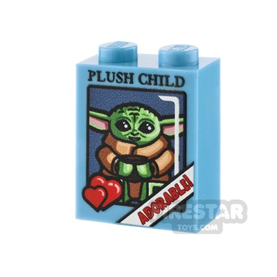 LEGO Custom Printed Brick 1x2x2: The Child Plush Box