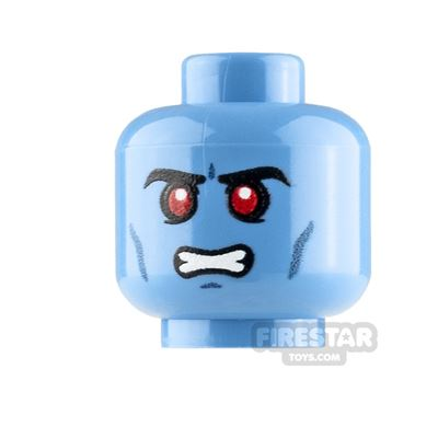 LEGO Custom Minifigure Heads: Chiss Male Angry