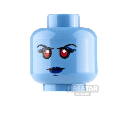 LEGO Custom Minifigure Heads: Chiss Female Serious