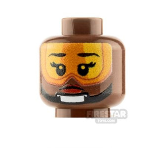 LEGO Custom Minifigure Heads: Rebel Pilot Reddish Brown Female