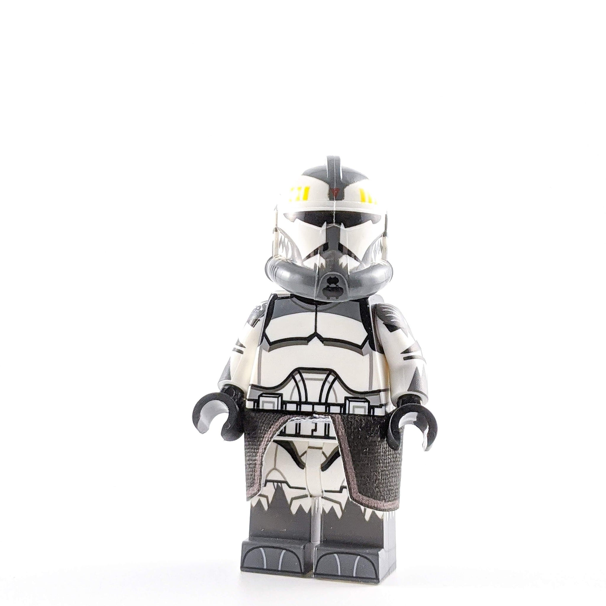 SW Custom Minifigure Commander: Wolffe Dark Gray