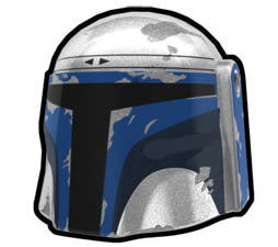Metallic Silver Jango Hunter Helmet