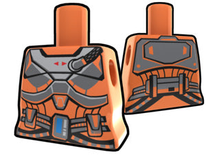 Orange Curved Torso With Armor