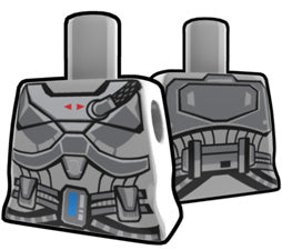 Gray Curved Torso With Armor