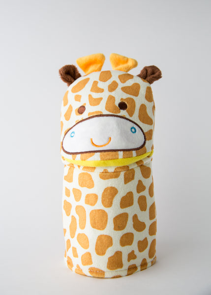 Ginny The Giraffe Wash Cloth - Cotton Mitt