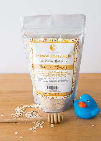 Oatmeal Honey Bath - Comfy & Nourishing Tub Time Foaming Bath Salt