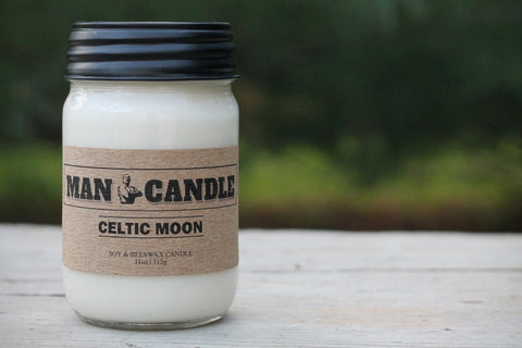 Man Candle - Best Soy/beeswax Candle - 11 Oz Large Candle -Celtic Moon Sent