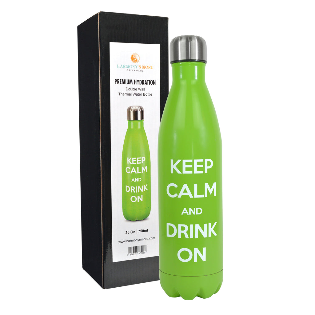 Stainless Steel Double Wall Vacuum Insulated – Cola Shaped Reusable Water Bottle