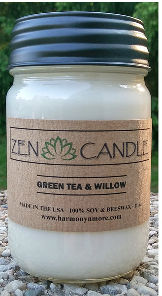 Best Zen Candle - 100% Soy & Beeswax 11 Oz