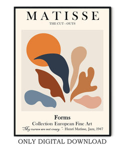 Henri Matisse cut-outs print and posters by Ros Ruseva