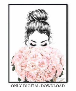 Fashion Illustrations Girly Prints