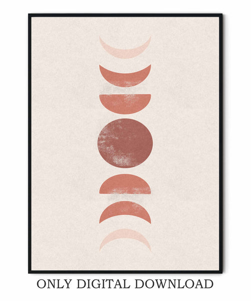 Abstract Moon Cycle Art Print