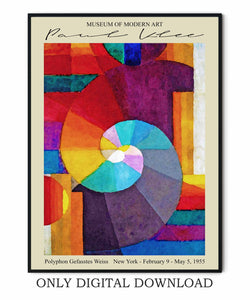 Paul Klee Spiral Poster