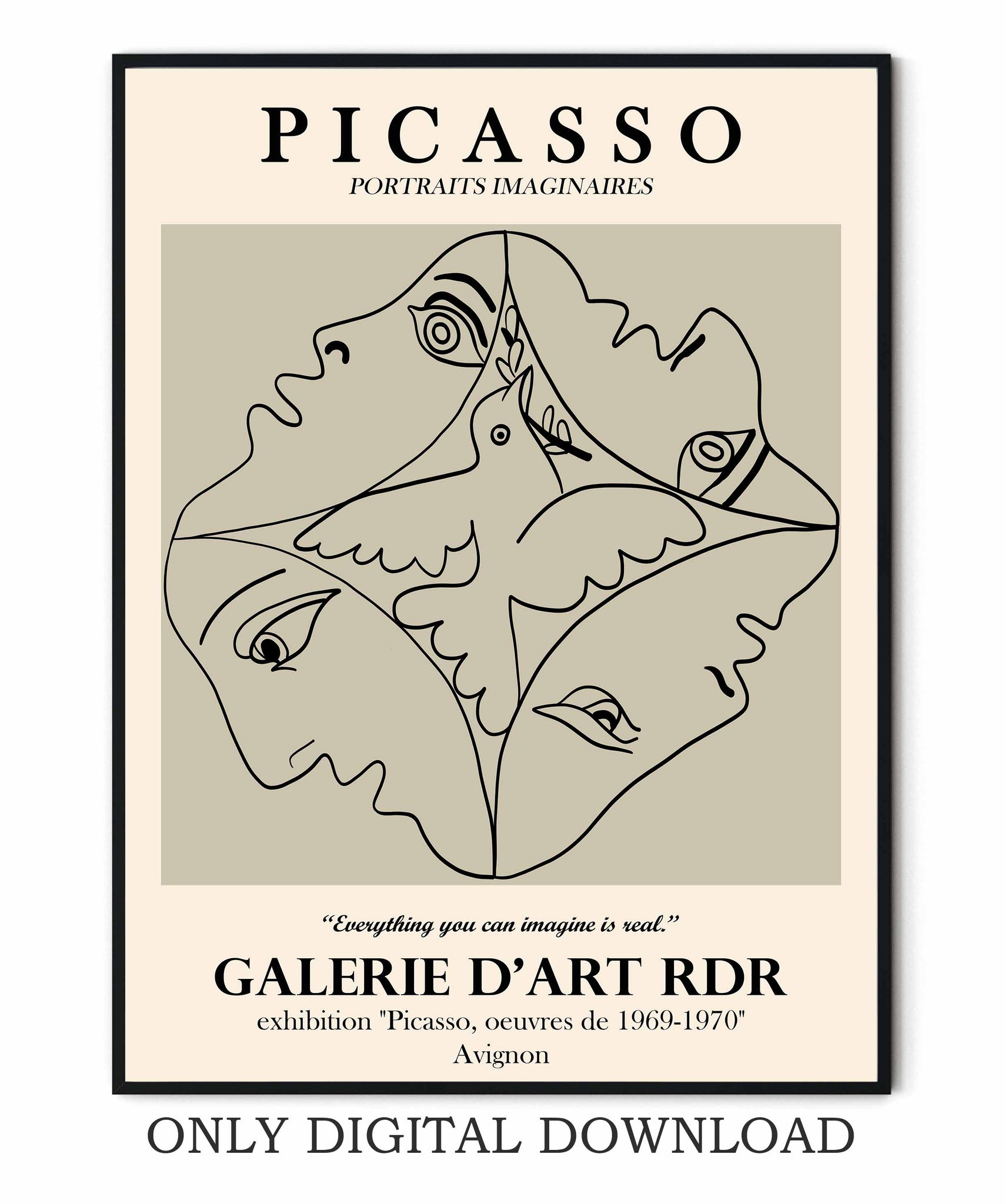 Picasso exhibition poster Museum
