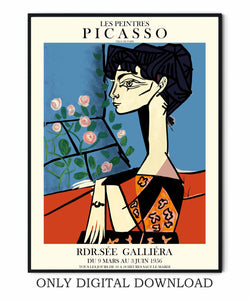 Picasso Abstract Woman Poster