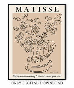 Matisse Vase With Flowers