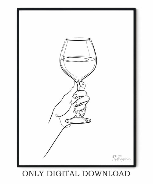 Hand with Glass of Wine