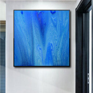 Fluid Acrylic Art Large Artwork Ready to Hang print Cut Tree Art by Ros Ruseva - Ros Ruseva