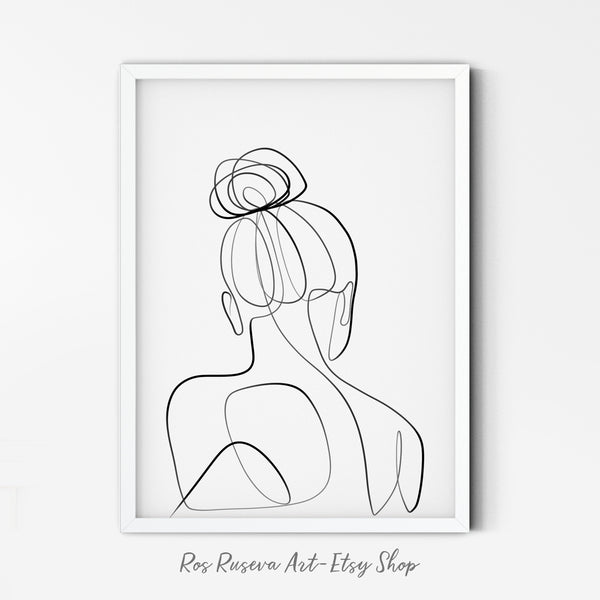 Woman back drawing, One Line Drawing, Female Line Art, Female Body Art, One Line Art, Line Drawing Woman, Single Line Art