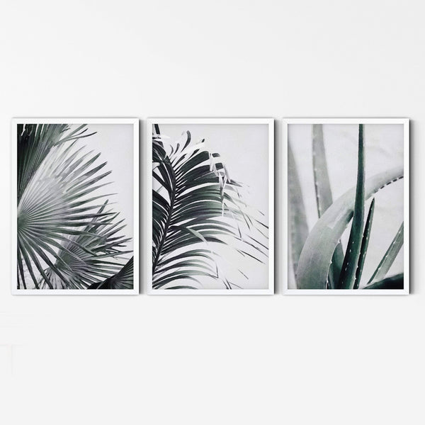 Palm Print, Leaf Print Wall Art, Palm Tree Leaf Print, Palm Tree Wall Art, Beach House Wall Art, Tropical Leaf Prints, Palm Leaves Prints - Ros Ruseva