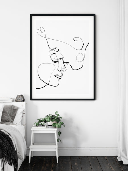 Romantic One Line Drawing