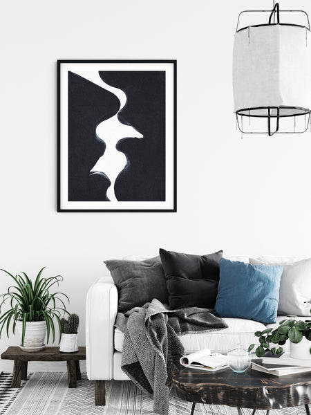 Kiss Print, Erotic Art Print, Minimal Watercolor Abstract Poster, Simple Abstract Art, Modern Minimal Art, Black and White Watercolor Print