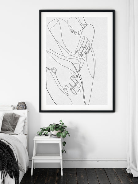 female body line art