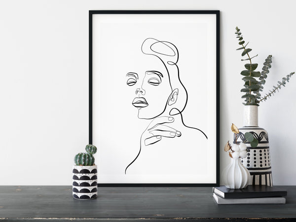Woman Line Drawing, One Line Drawing, One Line Art, One Line Print, Abstract Face Art, Single Line Art, Female Line Art, Simple Line Art - Ros Ruseva