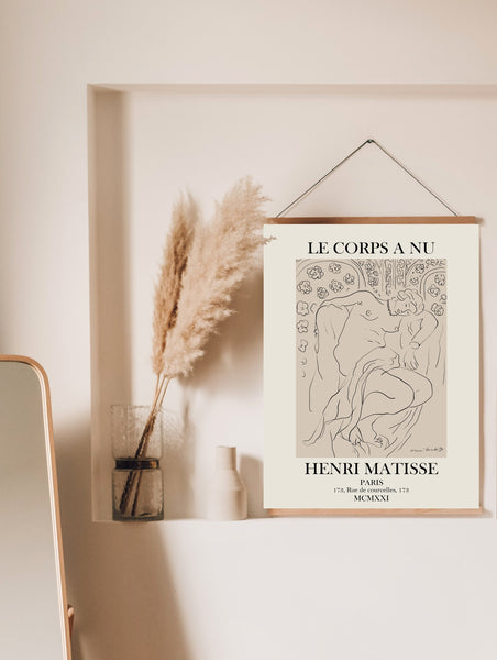 Matisse Exhibition Poster, Henri Matisse Print, One Line Drawing, Matisse Poster, Nude Line Drawing, One Line Art, Woman Line Drawing