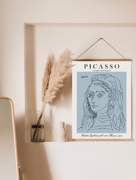 Picasso Poster, Woman Line Drawing, One Line Drawing, Picasso Line Art, One Line Art, Picasso Wall Art, Picasso Line Drawing, One Line Print - Ros Ruseva