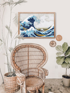 The Great Wave off Kanagawa, Japanese Art, Hokusai wall art, Abstract Landscape Print, Japanese wall art, The Great Wave, Great Wave Print