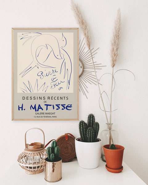 Matisse Birds Exhibition Poster
