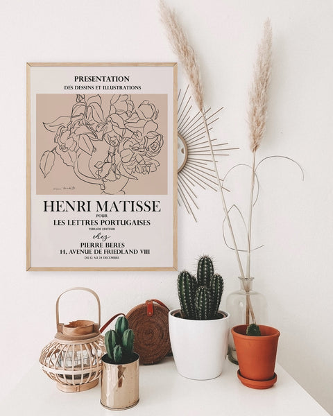 Matisse Flower Line Art
